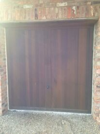 Cedar hathersage wooden single garage door