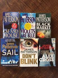 James Patterson - 6 Books - good condition