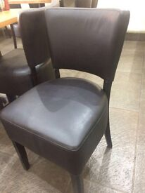26 x Black leather chairs very popular as hotel, restaurant or café chairs
