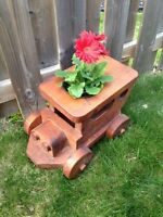 Solid Wood Train Planter