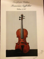 Genuine 300 year old Italian violin with the certificate