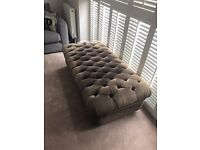 French Bedroom Company footstool ottoman pouffe upholstery project maybe