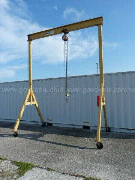 SPANCO 2 Ton Gantry Crane on Casters, C/M 2 ton trolley and hoist