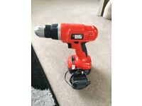 Black and decker 12v drill and charger
