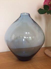 Large blue habitat vase