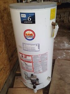 Natural gas hot water tank