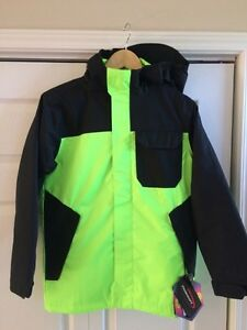 Under Armour Boys Coat, size M, new with tags - bright green
