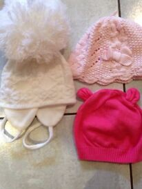 0-3 month baby girl hats