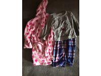 Girls dressing gown / tinker bell PJ aged 5-6
