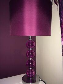 Purple glass ball lamp