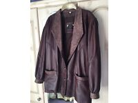 Ladies Chocolate Brown Leather Jacket (Blazer Style)