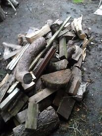 a pile of wood and logs for sale