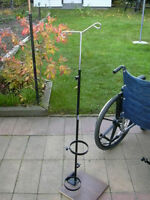 Invacare Wheelchair Oxygen Tank Holder With IV Bag Pole For Sale