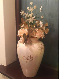 Vase with flower house ornament