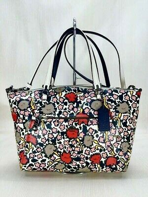 Coach Floral Print Polished Pebble Leather Prairie Satchel Bag - Great Condition