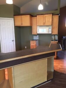 Maple cabinets and countertops