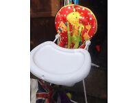 Mothercare High chair £5- Royston