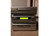 DENON separates, amp, CD player and tape deck