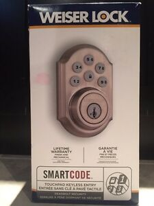 Brand new Weiser Smartcode lock touchpad keyless entry Kitchener / Waterloo Kitchener Area image 1