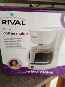 New white 12 cup coffee maker