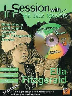 In Session With Ella Fitzgerald Jazz Piano Voice Guitar FABER Music BOOK & CD