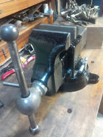 "BIG 5"" JAW RAE SWIVEL VISE MADE IN CANADA"