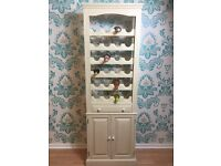 SOLD Shabby Chic Solid Pine Wine Rack
