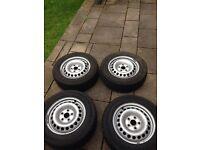 Vw t5 steel wheels.