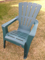 3 Resin Adirondack Chairs by Rubbermaid