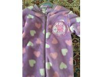 Fleece all in one sleepsuit peppa pig 18-24 months