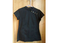 Black Salon Tunic Uniform Top