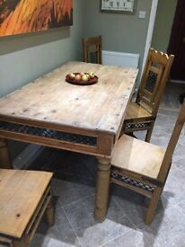 Farmhouse Table and 4 chairs
