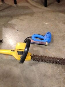 Hedge trimmer and brad nailer