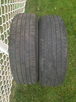 2 ALL SEASON TIRES / 2 PNEUS 195/65/15  HANKOOK OPTIMO