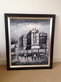 Streets of Paris painting