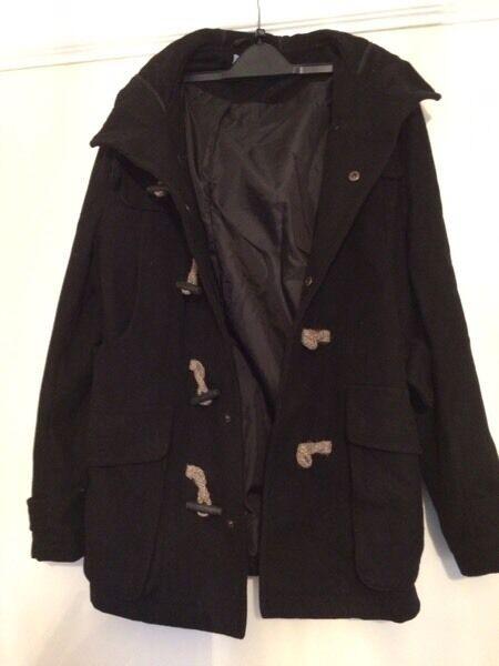 Black topman duffle coat | in Peckham, London | Gumtree