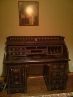 Antique Desk-Indonesia- 1800's era--ONE-OF-A-KIND