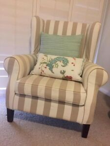 Winged Arm Chair with removable cover - Perfect Condition Hunters Hill Hunters Hill Area Preview