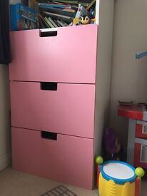 IKEA drawer front x 3 - not the unit - JUST THE PINK bits
