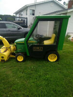 GT 225 John Deere Tractor with Snowthrower and Deck