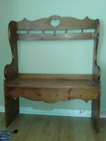 Wooden Entrance Bench