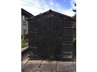 Garden shed 8 x 6 feet used wooden double door storage diy repair needed