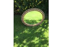 Gold oval mirror £10