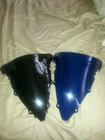 50 For Both WINDSCREENS 2003-2005 Yamaha R6 (BLUE AND BLACK)