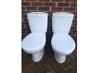 Toilet pan and cistern and basin with pedestal