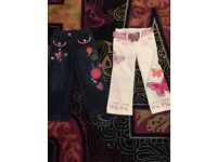 For sale 2 pairs of butterfly girl jeans by Matthew Williamson age 3 never worn !