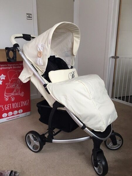billie faiers towie my babiie cream mb99 pushchair as new. Black Bedroom Furniture Sets. Home Design Ideas