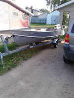 16ft aluminum boat and trailer
