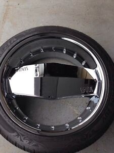 "22"" STATUS SINGLE SPOKE RIMS/ TIRES 265/40R/22 (106VLX)"