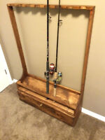 Solid Pine Canadian Made Fishing Rod Rack